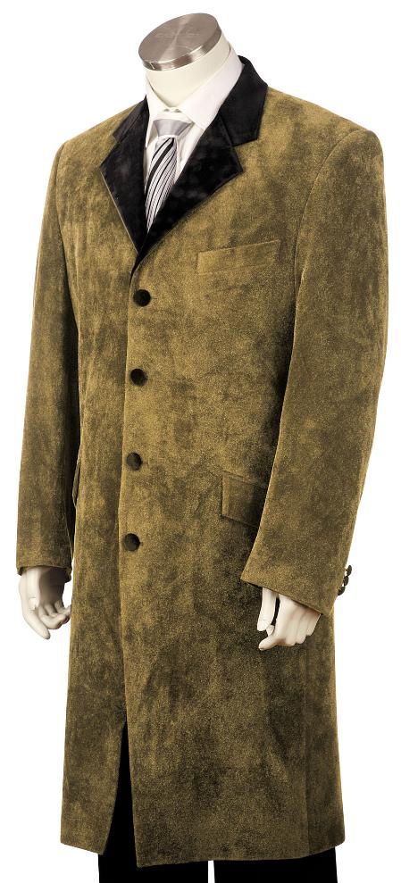 Men's Vintage Style Coats and Jackets Stylish Zoot Suit Coco Chocolate brown $190.00 AT vintagedancer.com