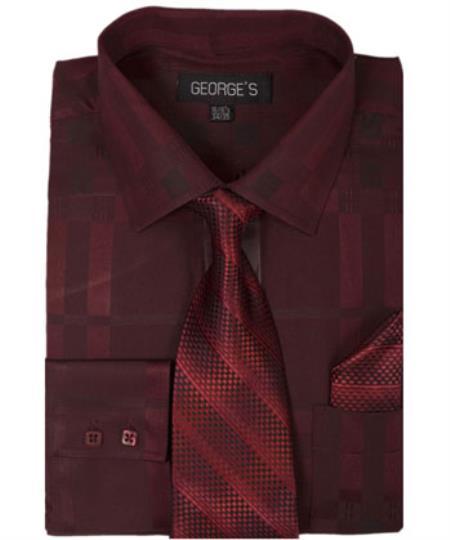 Mens-Burgundy-Color-Shirt-Tie-29318.jpg