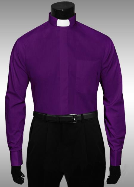 Mandarin Collar Shirt Mens