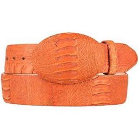 Original Brown Ostrich Skin Belt