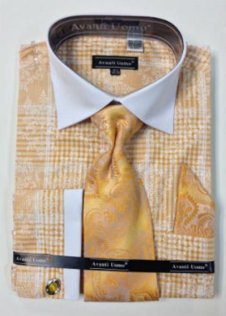 Mustard Men's Dress Shirt