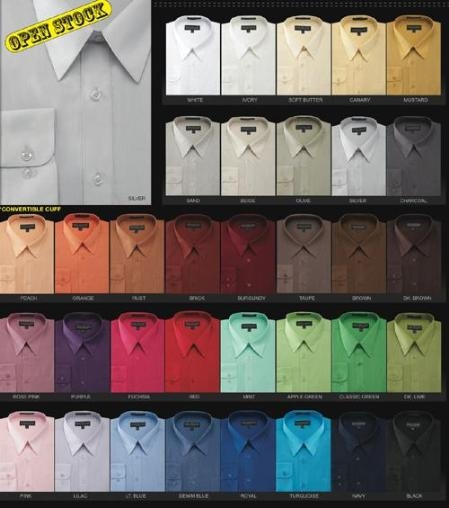 Wholesale Minimum 12PC Basic Normal 65%Man Made Fiber 35%Cotton Dress Cheap Fashion  Clearance Shirt Sale Online For Men In 34 Colors