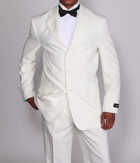 2 Pieces High Fashion Cream Prom ~ Wedding Groomsmen Tuxedo Suit with Flexible Waistband T802 All Off White Wedding Suit For Men For Sale