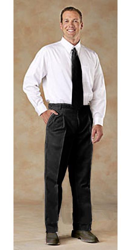 7v9e Pleated Creased Pants Dark Color Black