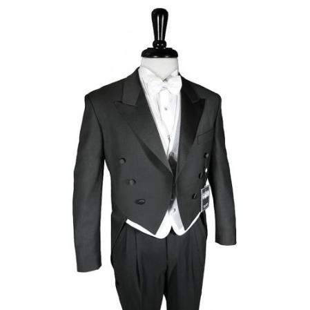 Superior fabric 150's Dark color black Peak Tailcoat