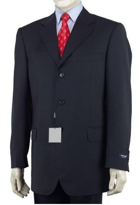 3 Button Dark Navy Blue Mens Suit under 100 discount mens suits cheap sale