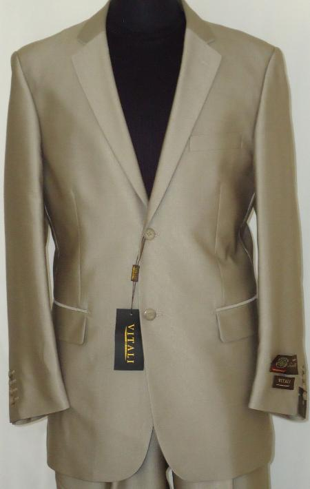 Mens-Designer-2-Button-Shiny-Beige-Sharkskin-Suit-11263.Jpg