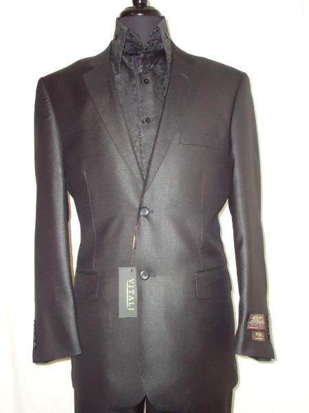 Mens-Designer-2-Button-Shiny-Black-Sharkskin-Suit-11274.Jpg