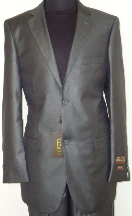 Mens-Designer-2-Button-Shiny-Charcoal-Gray-Sharkskin-Suit-11266.Jpg