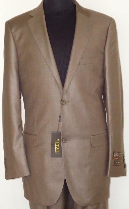 Mens-Designer-2-Button-Shiny-Cocoa-Brown-Sharkskin-Suit-11264.Jpg