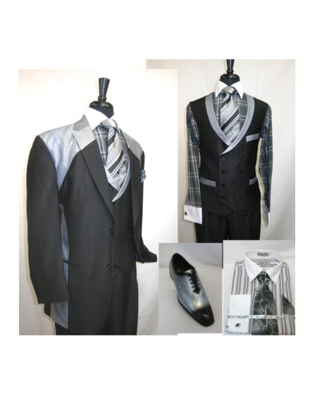 Double Breasted Vest Suit