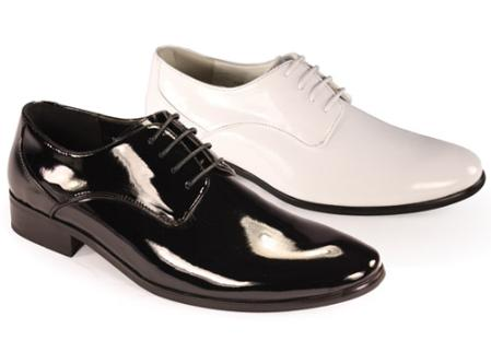 1960s Men's Clothing, 70s Men's Fashion Oxfords Tuxedo Formal Classic Leather skin Lace Formal Shoes for Men in Dark color black and White $76.00 AT vintagedancer.com