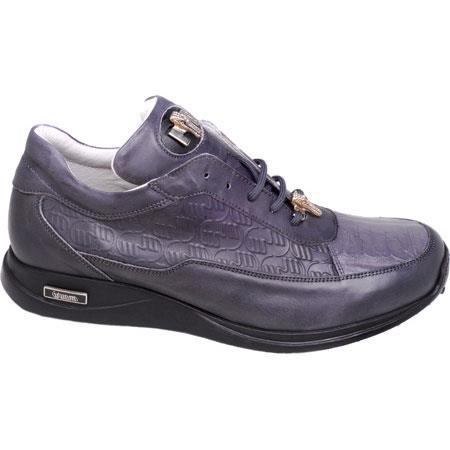 8900 Nappa & Baby Gator skin Sneakers Gray