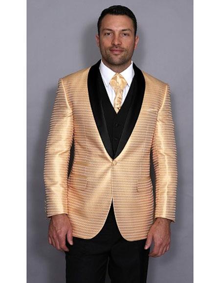 Mens Gold Color Fashion Suits