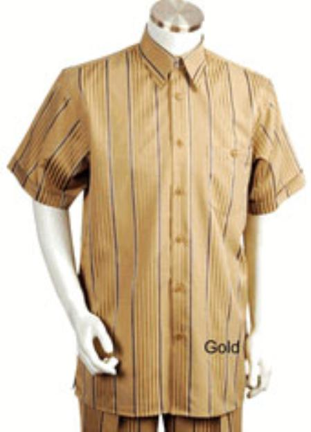 1940s Style Mens Shirts Leisure outfits walking Suit Short Sleeve 2piece outfits walking Suit $90.00 AT vintagedancer.com