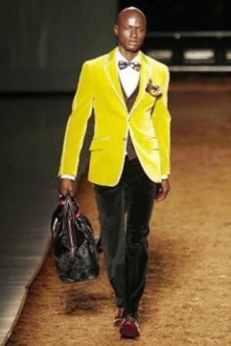 yellow blazer Italian suits Fashion Suits Mens Tuxedos