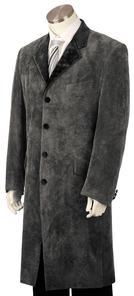 Mens-Grey-Velvet-Suit