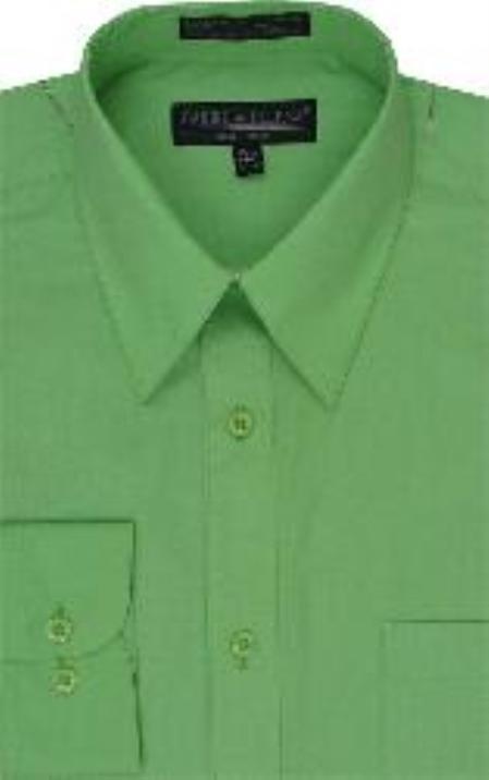 Neon green dress shirt mens lime green shirt for Bright mens dress shirts