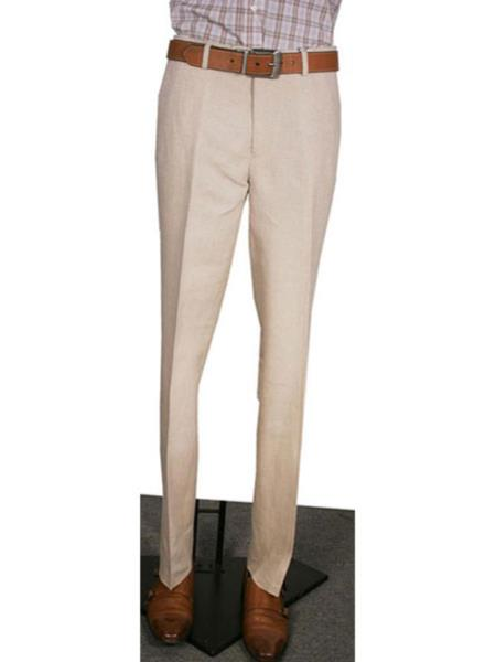 d75f8e63cbef4 Modern Fit Wide Leg Pleated creased Pant Natural