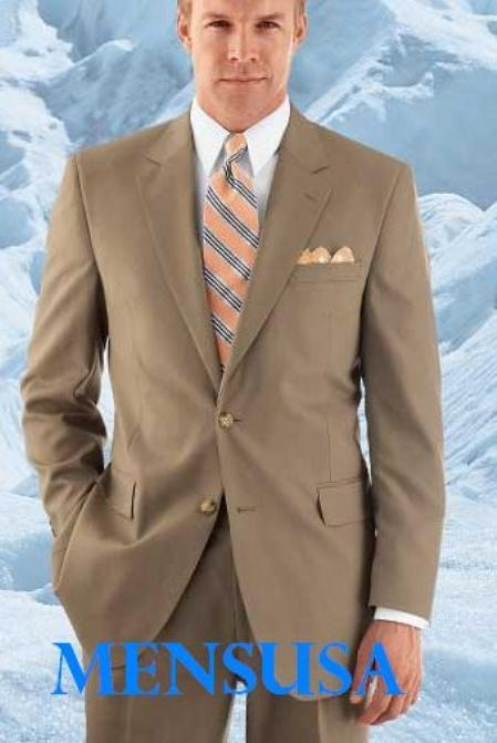 Tan Suits For Men With Modern Tan 2 Button With Double