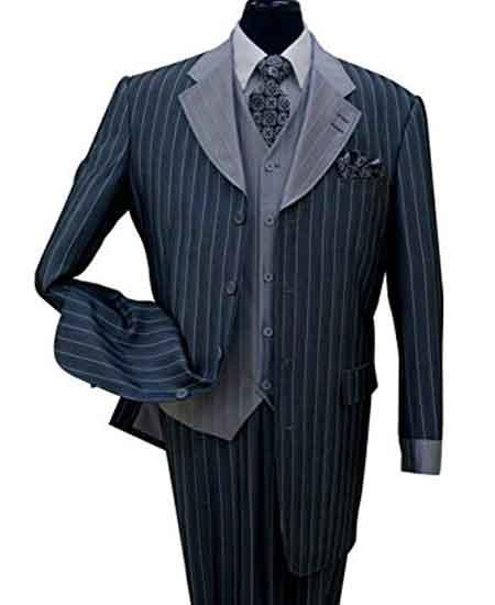 Navy Color Wool Suit