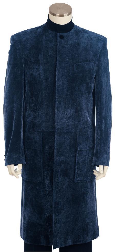 Mens-Navy-Velvet-Suit