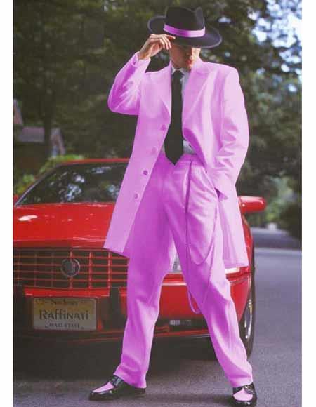 Mens Pink Vent Zoot Suit