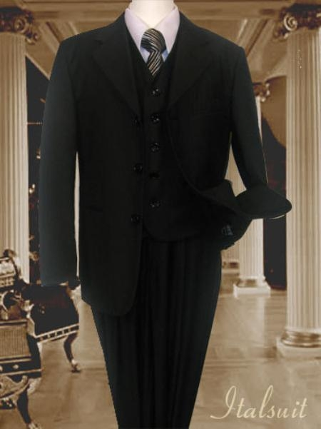Dark color Black Funeral Suit 3PC Basic All Solid Outfit Plain Funeral Attire - Funeral Outfit - Funeral Clothes kids suits available in lit