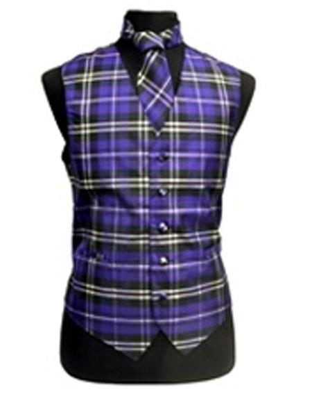 Polyester Vest Bow Tie