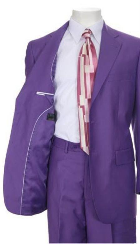 Mens Purple Color Suit