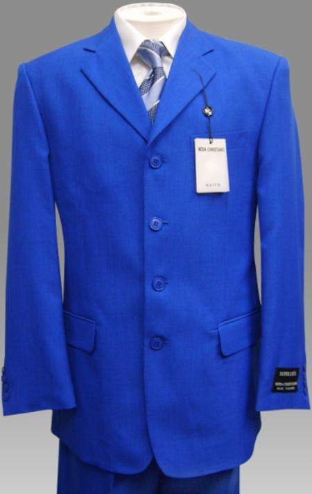 Mens Royal Blue Color Suits