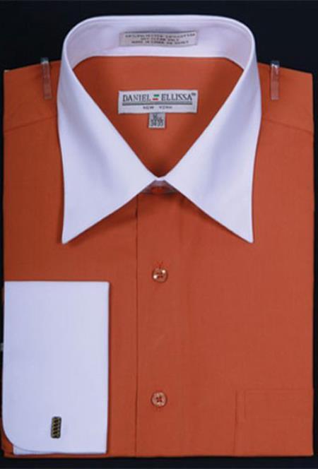 Mens-Rust-French-Cuff-Dress-Shirt-24445.jpg