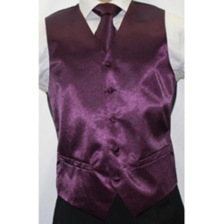 Shiny Purple Vest