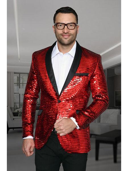 Shiny Red Dinner Jacket