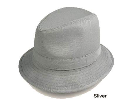 1960s Style Men's Hats | 60s Men's Hats & Caps New Fedora Trilby Hat Silver $30.00 AT vintagedancer.com
