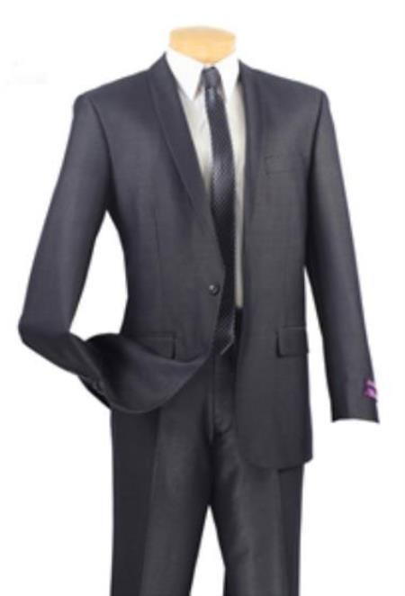 Tapered Leg Lower rise Pants & Get skinny Single Buttons patterned Basic Solid Plain Shawl Collared Slim Fit Suit Blue