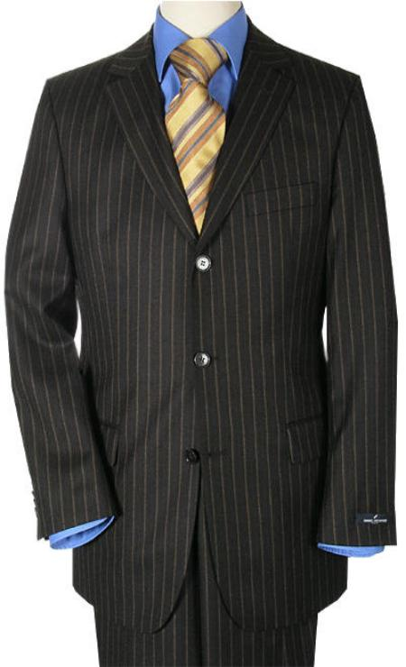 Three Button Black Suit