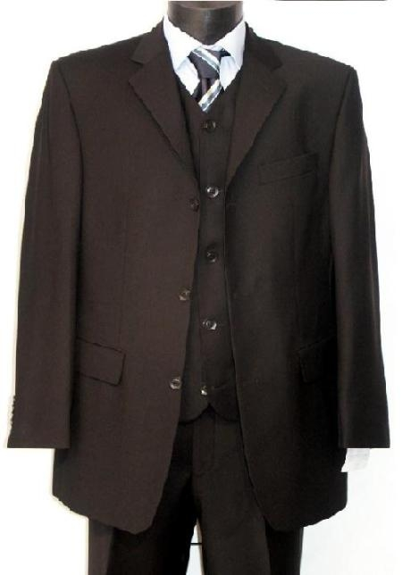 Men's Vintage Style Suits, Classic Suits 3 piece 5 Color Available All Vested 3 Piece Three buttons $126.00 AT vintagedancer.com