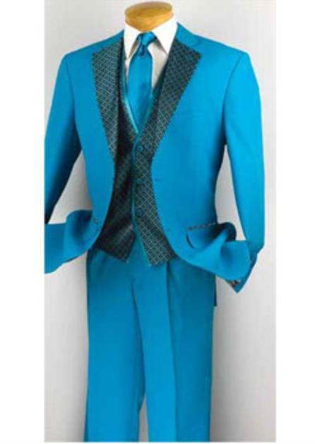 Turquoise Blue Wedding Suit