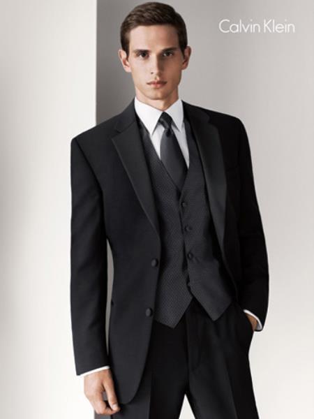 Calvin Klein Radnor Two Button Dark color black Tuxedo