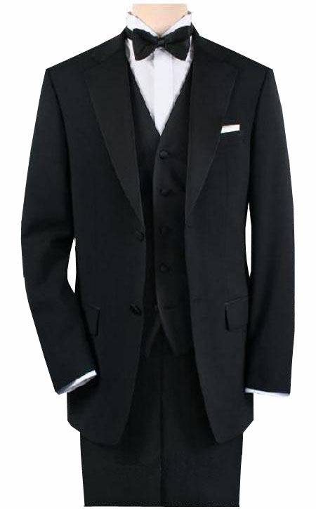 1920s Mens Evening Wear: Tuxedos and Dinner Jackets Dark color black Tuxedo 1or2or3orFour buttons Style $170.00 AT vintagedancer.com
