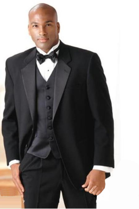 Superior fabric 140's Wool fabric Prom Wedding Groomsmen Tuxedo + Vest + Shirt + Bow Tie 2 Button Suit