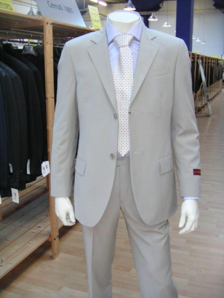 Button Gray Suit