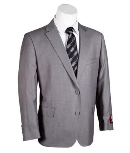 Two Buttons Grey Suit