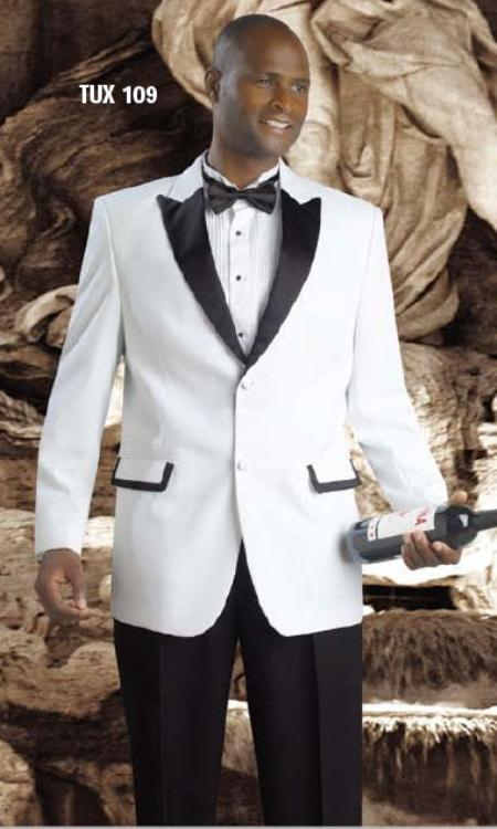 Crafted professionally Two buttons Tuxedos White Dark color 95f02cb2e688