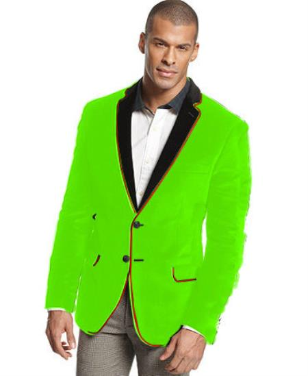 Formal Velvet Sportcoat Jacket | Lime kelly green Green Spor