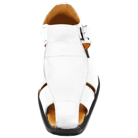 Mens White Casual Sandal