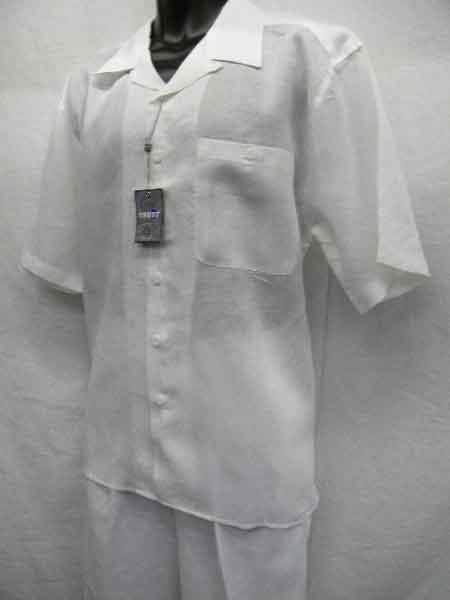Two Piece Beach Wedding outfit Short Sleeve Big and Tall Large Man