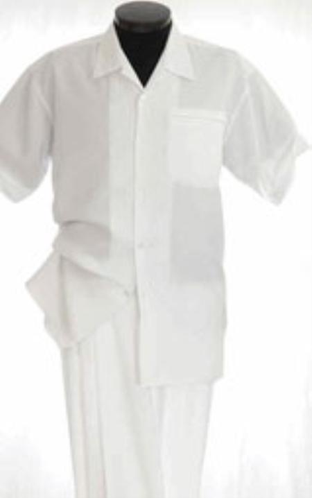 White Leisure outfits walking Suit Short Sleeve Two Piece outfits walking Suit all white outfits for