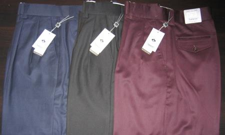 Wide Leg Wool fabric Slacks in Dark color black, Brown, Beige, Navy, Charcoal Masculine color & Very Dark Purple pastel color~ Eggplant